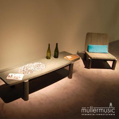Wir möbeln Ihre Show auf! Beschallung, Beleuchtung, Bühnenbau, AV-Technik, Rigging. Weitere Infos finden Sie auf www.muellermusic.com