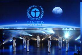 Kongreß-Theater Weltjugendkongreß TUNZA UNEP und Bayer