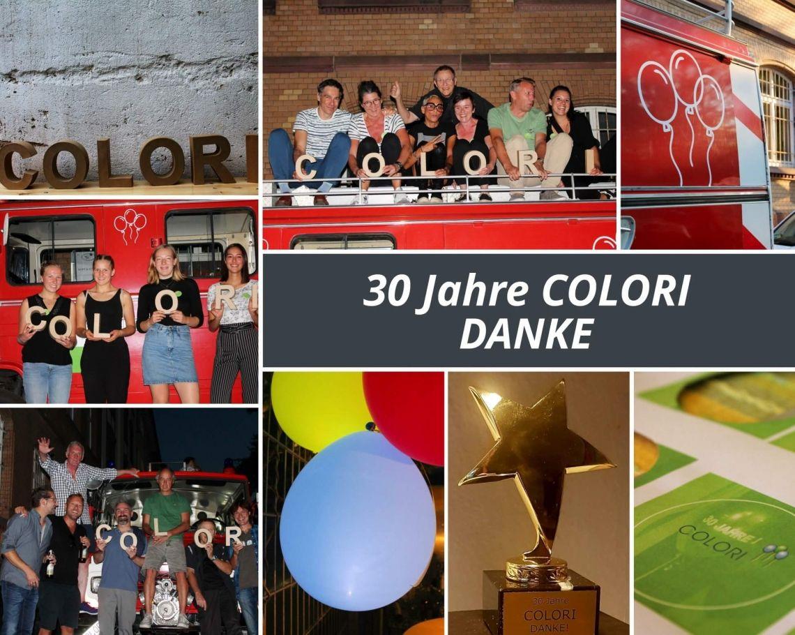 30 Jahre COLORI - Das Fest 30 Jahre COLORI – das musste gefeiert werden. Mit alten und neuen COLORI´s. Schön war´s.