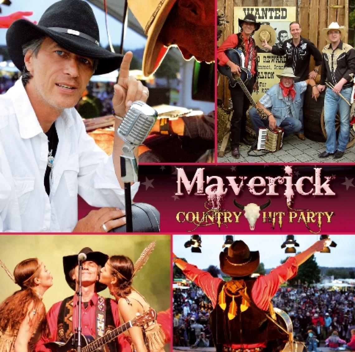 Country Hit Party Erleben Sie ein musikalisches Highlight der Extra-klasse: D. Maverick, der charismatische Sänger und Entertainer wird Sie und Ihre Gäste in seinen Bann ziehen. Aktionsreiche und absolut professionelle Performance auf höchstem Niveau sind der Garant für allerbeste Unterhaltung. Die spektakuläre Bühnenshow wird Sie und Ihre Gäste begeistern.
