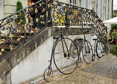 Hochräder in vier verschiedenen Größen