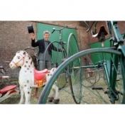 Hochradfahrer Florian: Lernen Sie Hochradfahren an der Hochradfahrschule!