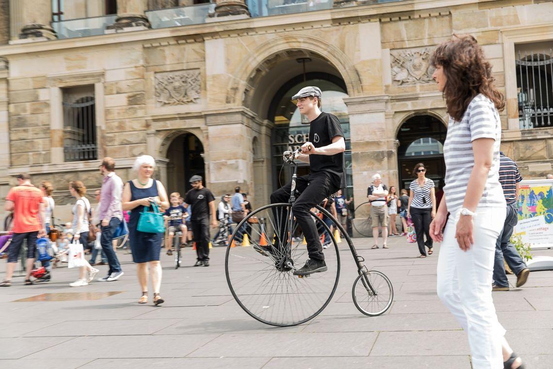 Hochradfahrer für Ihr Stadtjubiläum