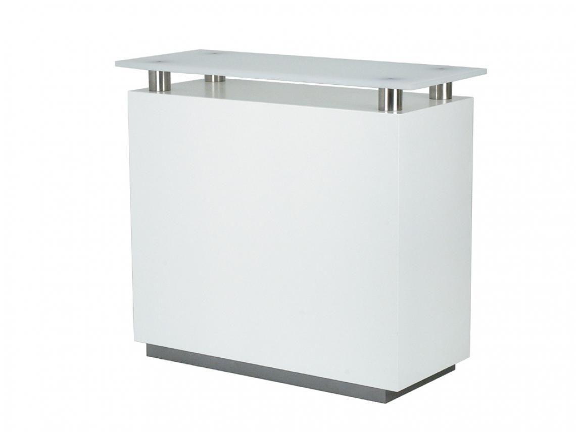 Counter weiß lang Counter weiß lang Lackierter Holzkorpus, Deckplatte aus Acrylglas, BHT: 120x106x50cm