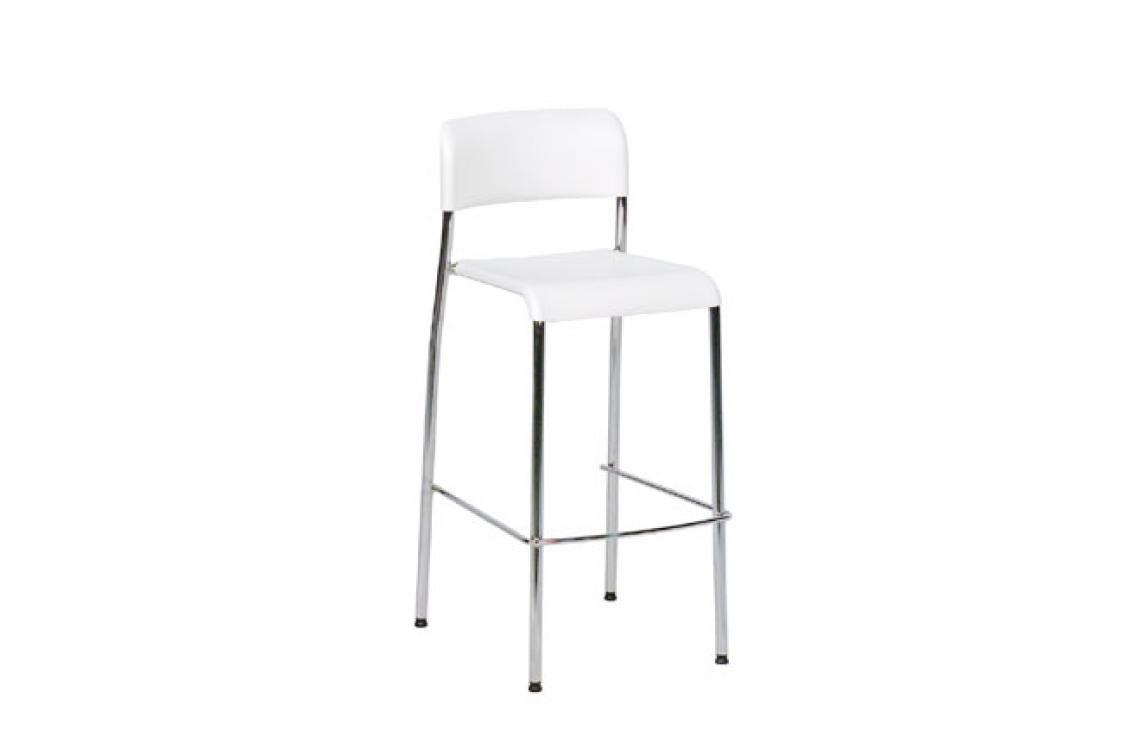 Barhocker stapelbar weiß Barhocker stapelbar weiß Sitzelemente aus Kunststoff, verchromter Stahl, Sitzhöhe: 72 cm