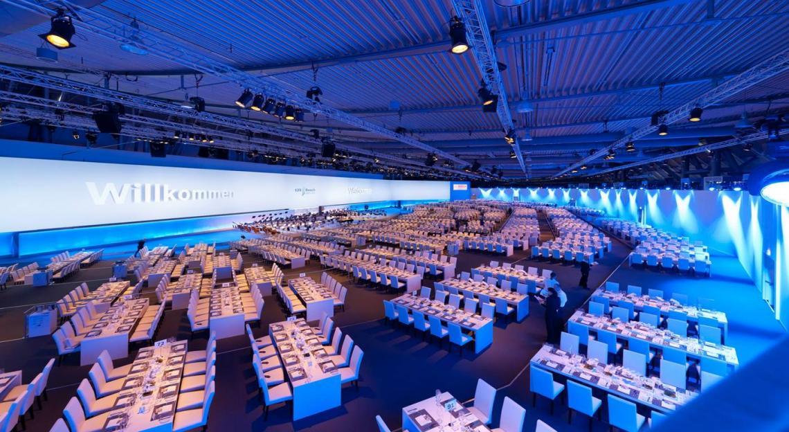 125 Jahre Bosch  Preisgekrönte Jubiläumsgala in der Stuttgarter Landesmesse im Jahre 2012.