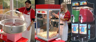 Fun Food (Zuckerwatte, Popcorn und Slush-Ice) Fun Food (Zuckerwatte, Popcorn und Slush-Ice)