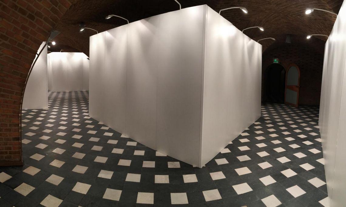 Ausstellungsbau Wände für Posterausstellung im Gürzenich Köln