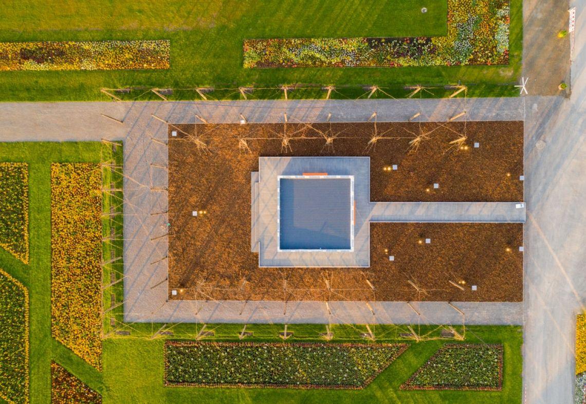 STIHL Pavillon - Drohnenaufnahme