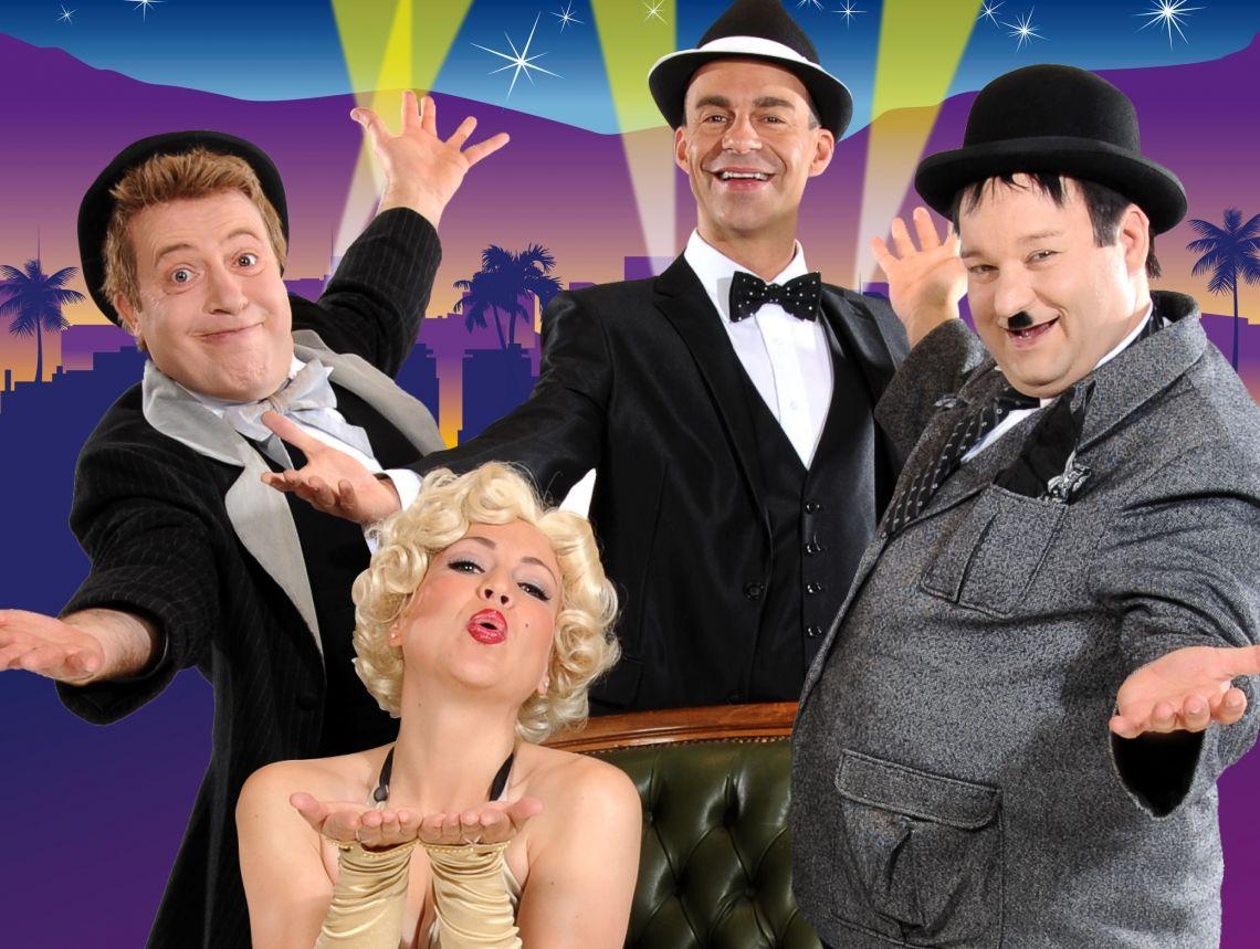 """Hollywood-Dinner """"Stan Laurel & Oliver Hardy"""" führen Sie durch eine außergewöhnliche Show, in der wir die unvergessenen Stars für Sie zum Leben erwecken. Staunen Sie, genießen Sie und lassen Sie sich verwöhnen."""