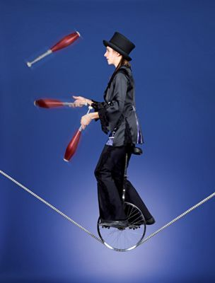 Mit Eleganz und faszinierender Akrobatik Mit Eleganz und faszinierender Akrobatik entführt Annette Will das Publikum in ihre fabelhafte Welt.