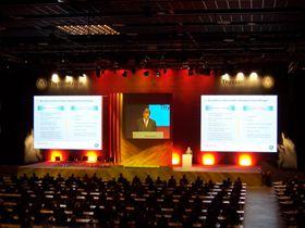 Thyssen Krupp Hauptversammlung  Wie in den letzten Jahren, war Aventem auch  der technische Partner bei der Hauptversammlung der Thyssen Krupp AG in Bochum. Rigging, Licht-, Ton- und Videotechnik werden von uns konzipiert, geliefert und betreut.