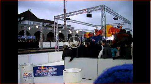 Eisbahn für Red Bull