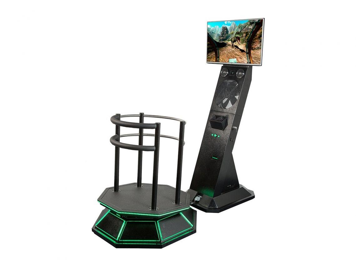 Virtual Reality 5D Full Motion Simulator Unser 5D Virtual Reality Full Motion Simulator ist die Steigerung zu unserem bekannten und beliebten 5D VR Simulator.   Durch die bewegliche Plattform (Full Motion) erleben Sie die 15 Abenteuer (Riesenschaukel, Motocross Rennen, Achterbahn, Aquapark, Dino Park, u.v.m.) noch realer!   Alle Bewegungen aus dem Spiel werden in Echtzeit durch die Plattform ausgeführt. Sie spüren Ihre rasante Fahrt die durch die Windmaschine noch verstärkt wird.   Wir liefern unseren 5D Virtual Reality Full Motion Simulator inkl. VR Brille, 49 Zoll Monitor (damit die Zuschauer das Geschehen verfolgen können) und 15 (!) Abenteuer.