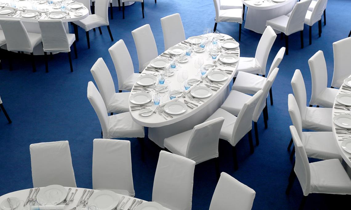 Tischwäsche mieten - Empfänge bis 3.500 Personen