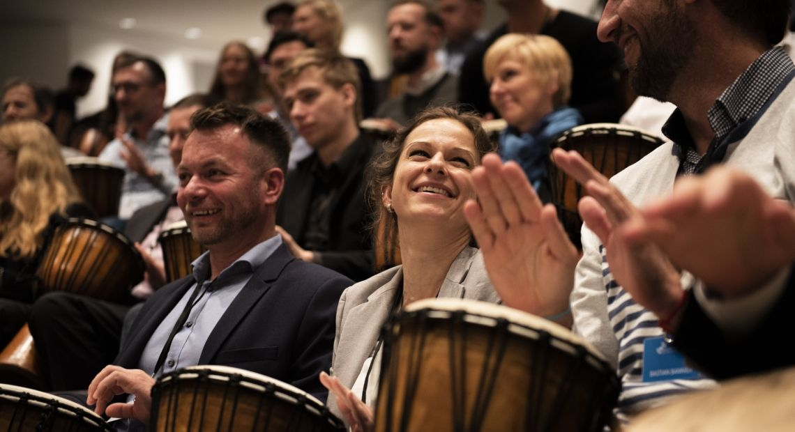 Trommelworkshop  Drum 2 gether bei den business Vision Days 2019