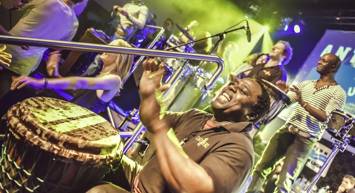 Publikumsliebling Modou Seck Drumevent zum Jubiläum Antenne  Düsseldorf