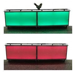 LED-Barelemente Für Sie und Ihr Catering haben wir eigene Barelemente. Mittels der durch LEDs illuminierten Front können wir diese flexibel der jeweiligen Location oder auch Ihren Firmen CI-Farben anpassen.