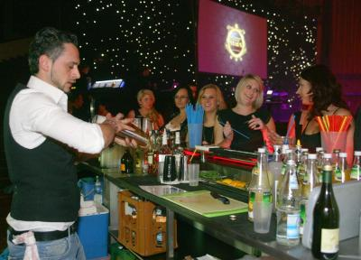 Barkeeper in Aktion