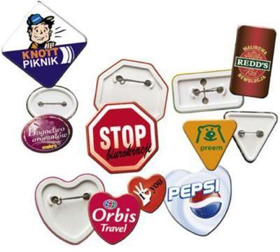 Buttons andere Formen Unsere Buttons sind ansteckend, aber völlig virenfrei. Bringen Sie Ihre Botschaften an Frau, Mann u. Kind.