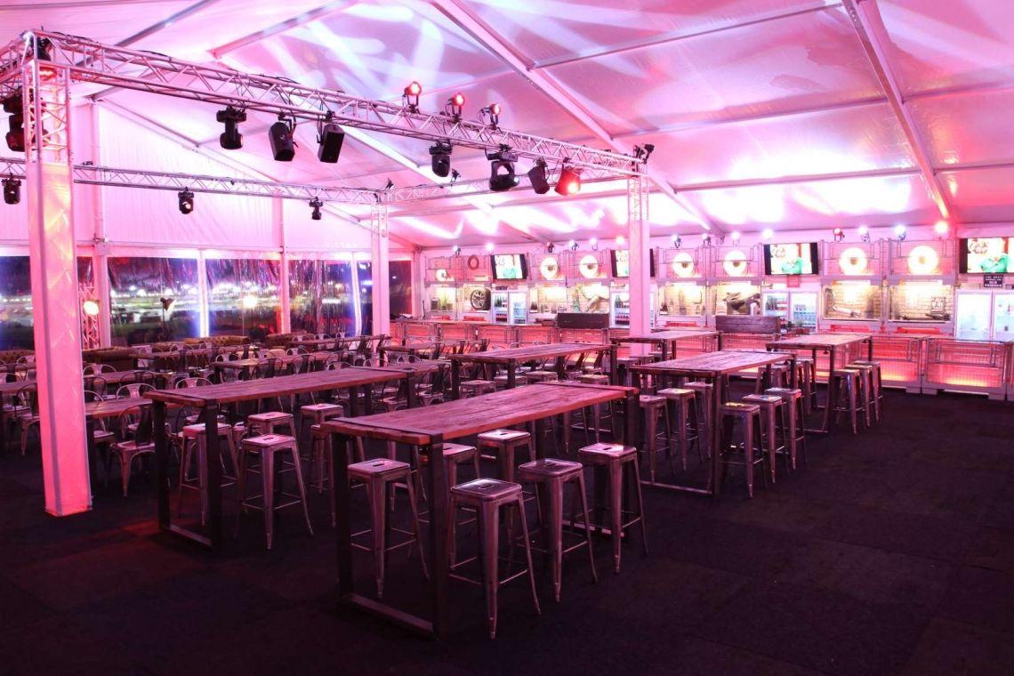 Industrialstyle made by eventura - Die Veranstaltungsprofis! Kundenevent im Rahmen des 24h Rennens am Nuerburgring.