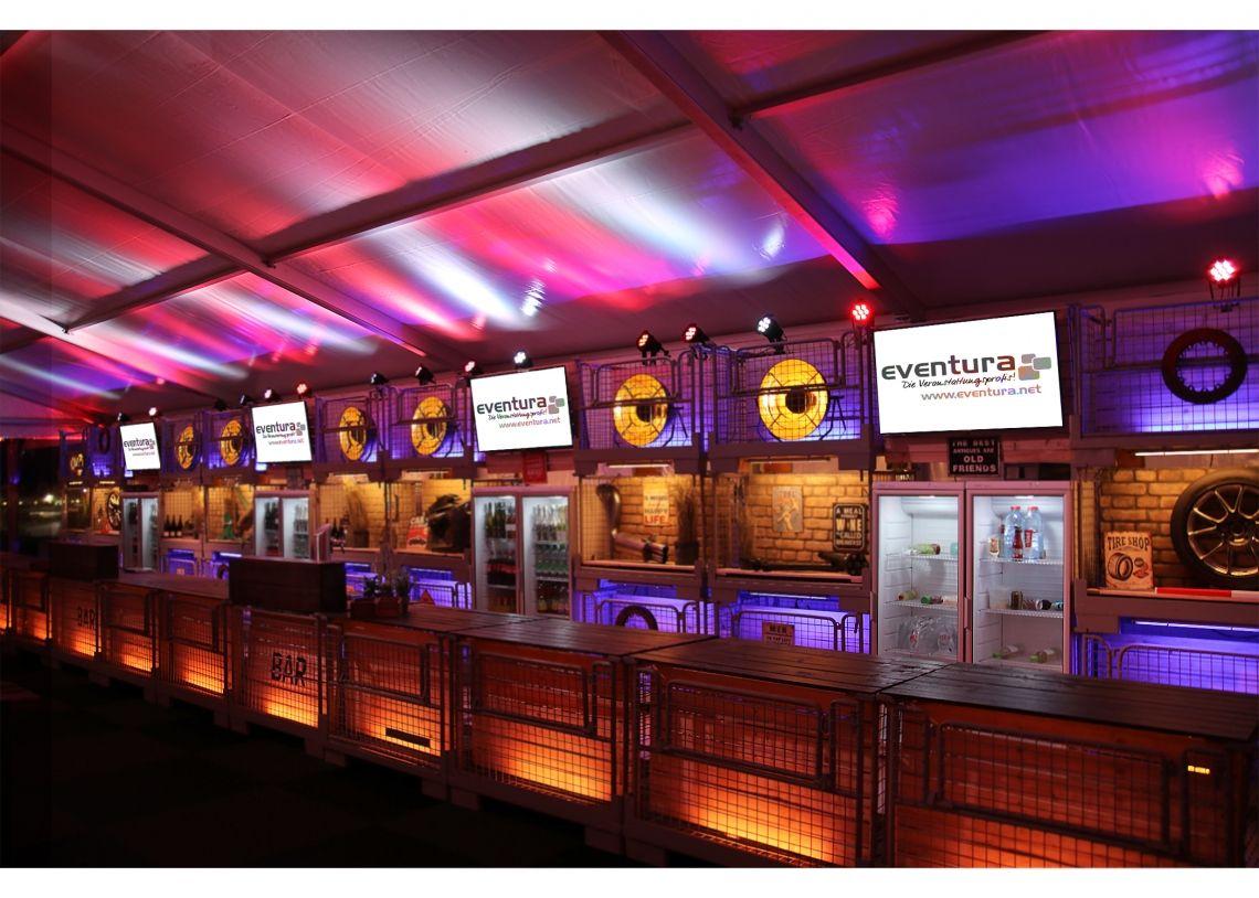 Industrialstyle made by eventura - Die Veranstaltungsprofis Kundenevent im Rahmen des 24h Rennens am Nuerburgring.