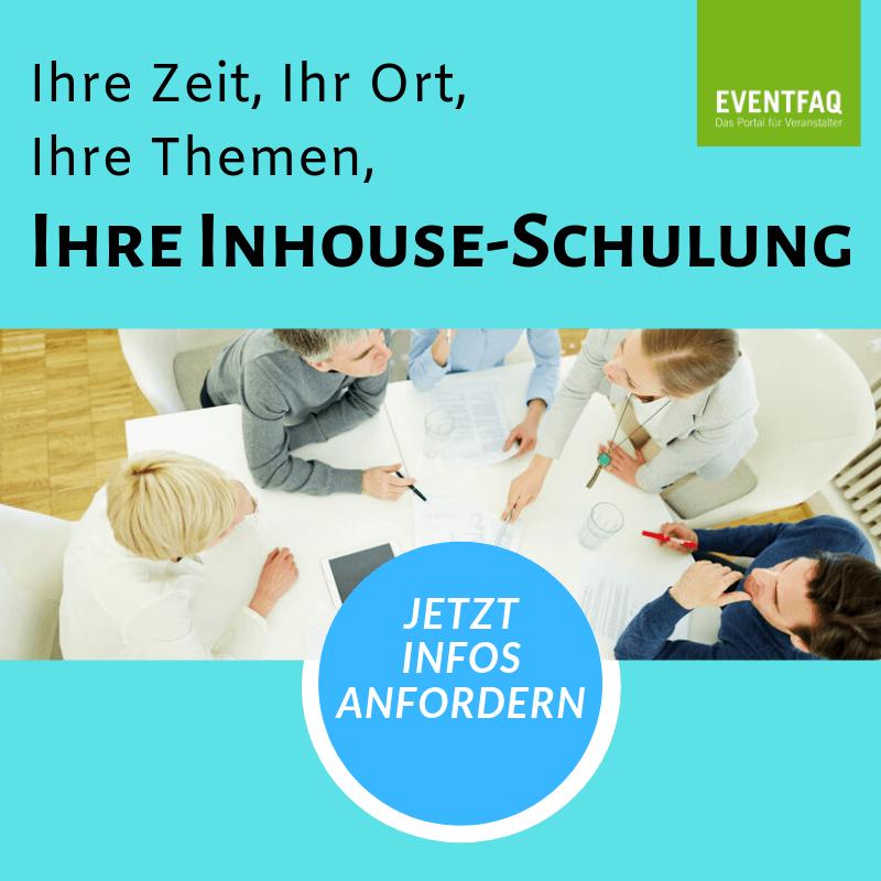Inhouse-Schulungen zum Veranstaltungsrecht  https://eventfaq.de/inhouse-schulung/