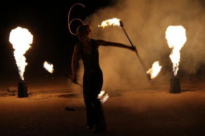 Solo-Performance Flammenprojektoren