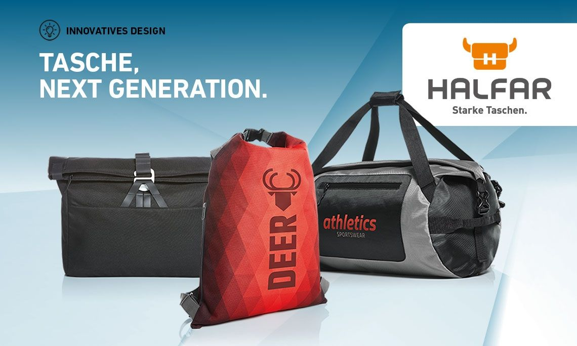 Innovatives Design von HALFAR® - Tasche, next generation.