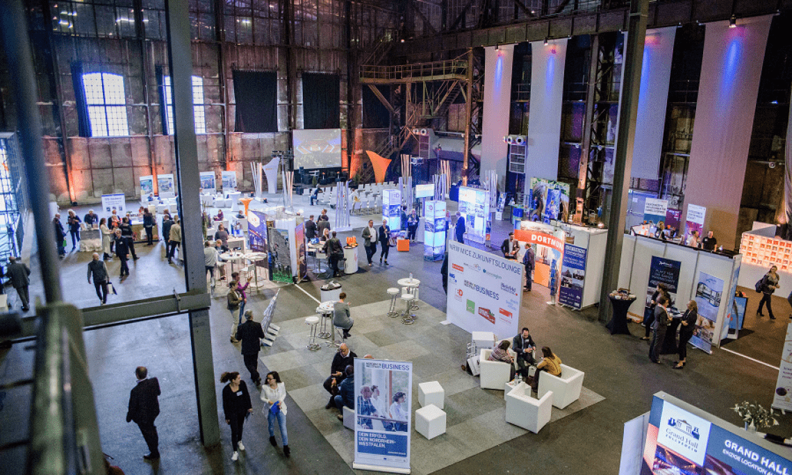 LOCATIONS Rhein-Ruhr In beeindruckender Atmosphäre stellten 122 Aussteller aus der MICE- und Eventbranche ihre Veranstaltungshäuser, Produkte und Dienstleistungen auf der LOCATIONS Rhein-Ruhr 2016 vor.
