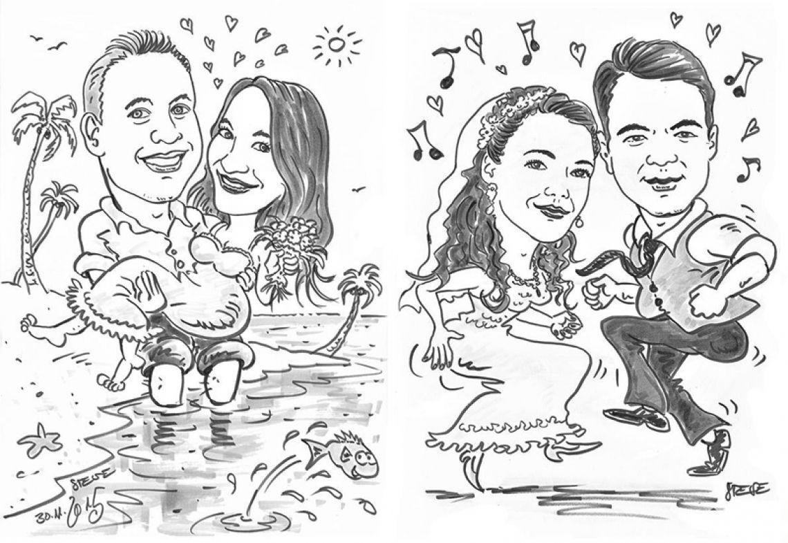 Karikaturen Hochzeit