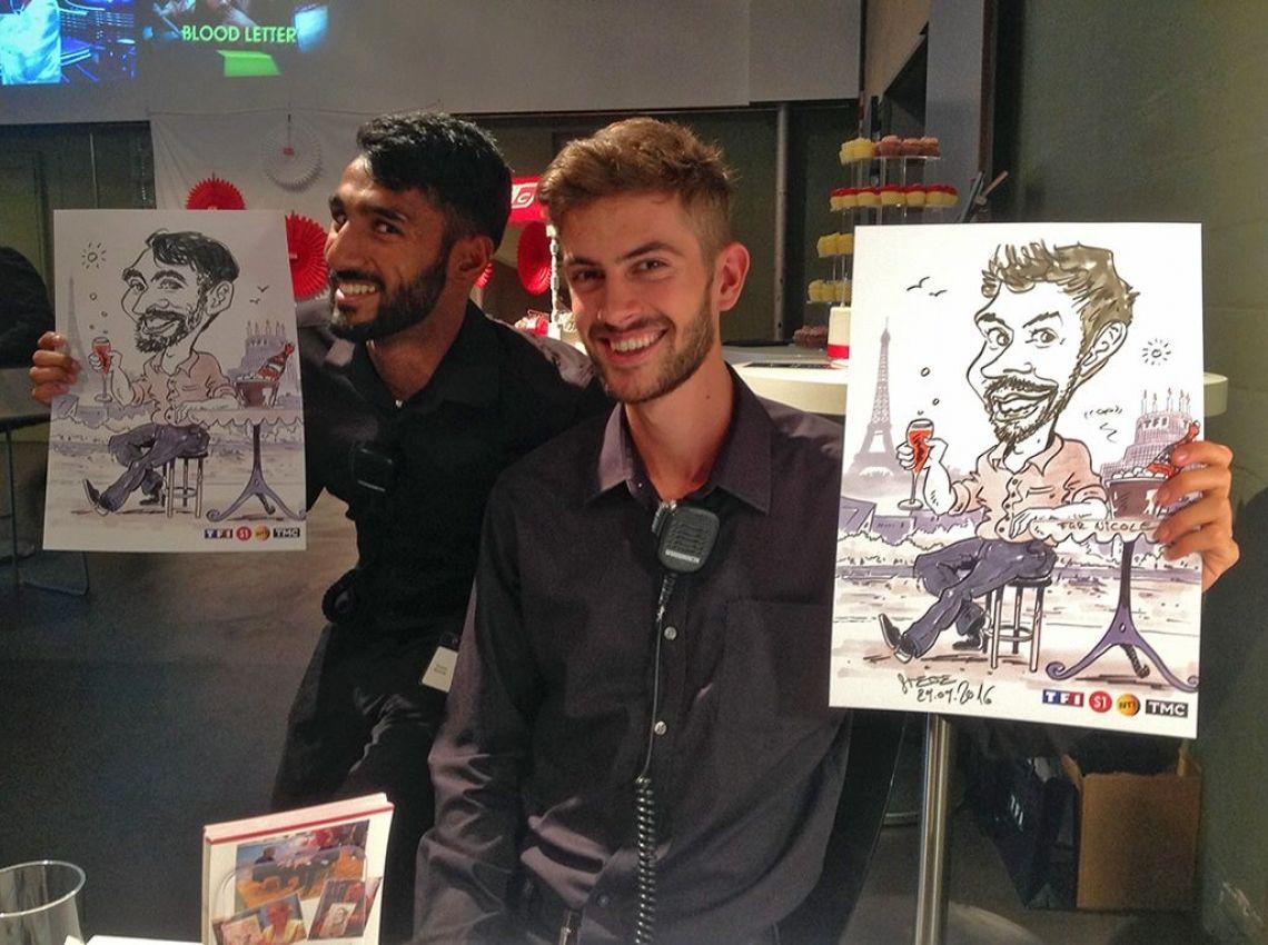 Karikaturist und Schnellzeichner Steve