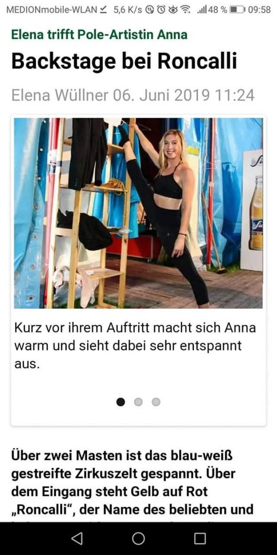 Anna Herkt - Showacts