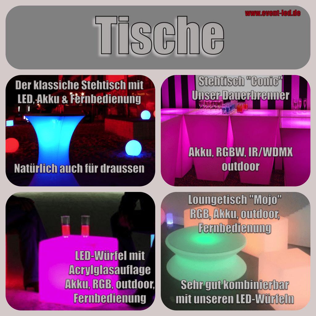 LED-Objekte 2018 Stehleuchten www.event-led.de Wir vermieten LED-Objekte für Veranstaltungen in Berlin. Akku, Fernbedienung, RGB-LED-Farbmischung, outdoor und indoor. Hier eine kleine Auswahl mit Stand August 2018. Wir freuen uns auf Ihre Anfrage oder Fachsimpelei.  Herzliche Grüße Michael Weiß