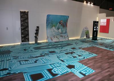 Bedruckter PVC Messeboden Bedruckter PVC für einen Messestand