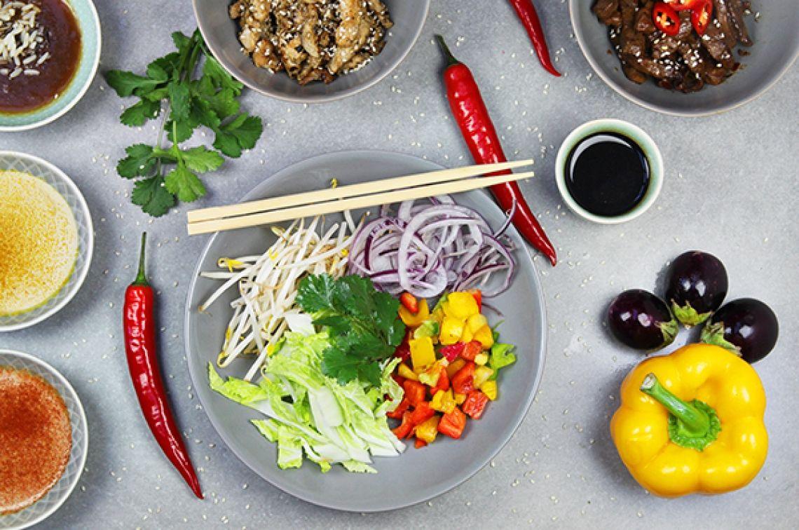 Woking Lou Asia Catering Heiß gewoktes Gemüse - knackig frisch
