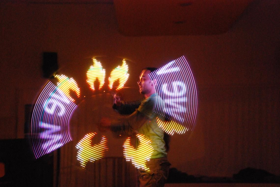 licht mit logos schicken Sie Ihr logo und wir stellen es auf der Bühne dar!