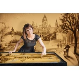 SAND MALEREI SHOW sand malerei show -Sabine Liebenow