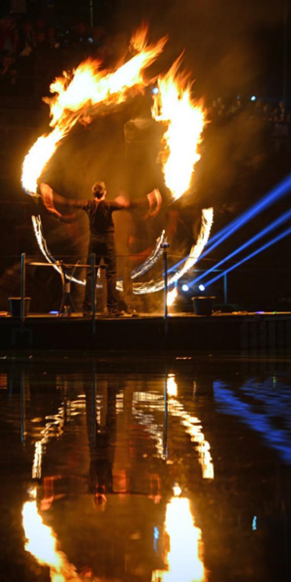 Drauf & Dran: Feuershow   Foto von ©Andreas Hamacher