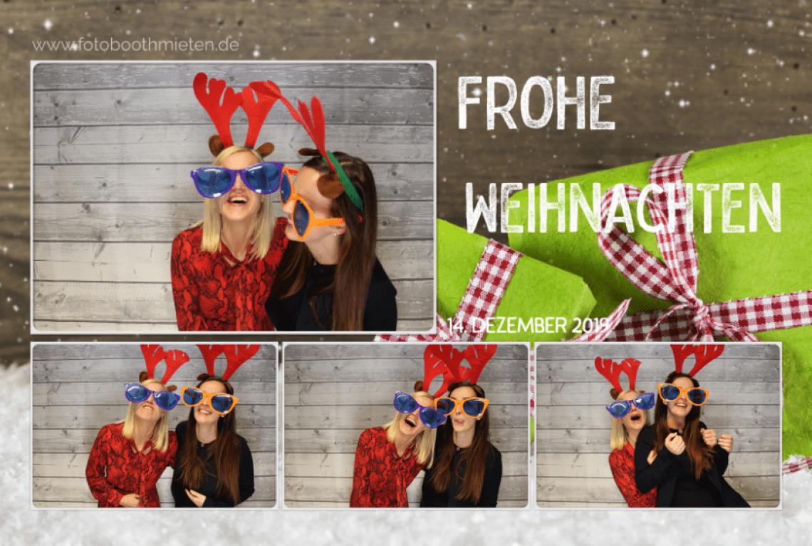 Layout Firmenevent Weihnachtsfeier Immer im richtigen Gewand sind die Ausdrucke der Fotobox von fotoboothmieten.de