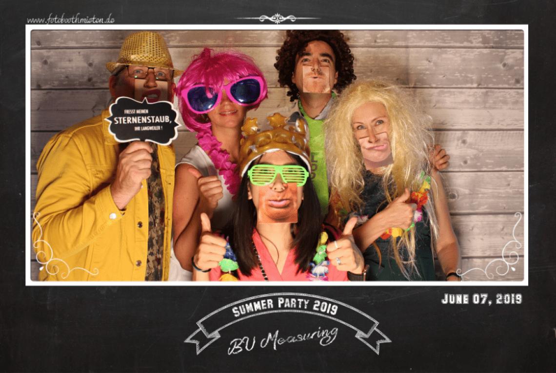 Layout Sommerparty Einzelbild mit personalisiertem Text für Ihr Sommerfest mit der Fotobooth Fotobox