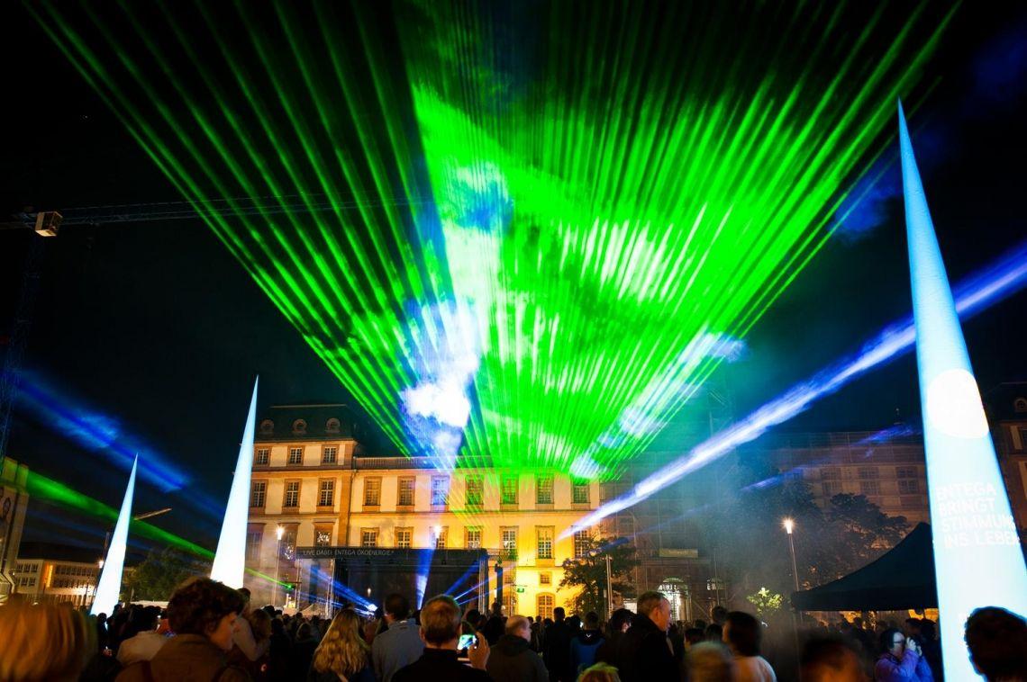 Eventtechnik mit Lasershow