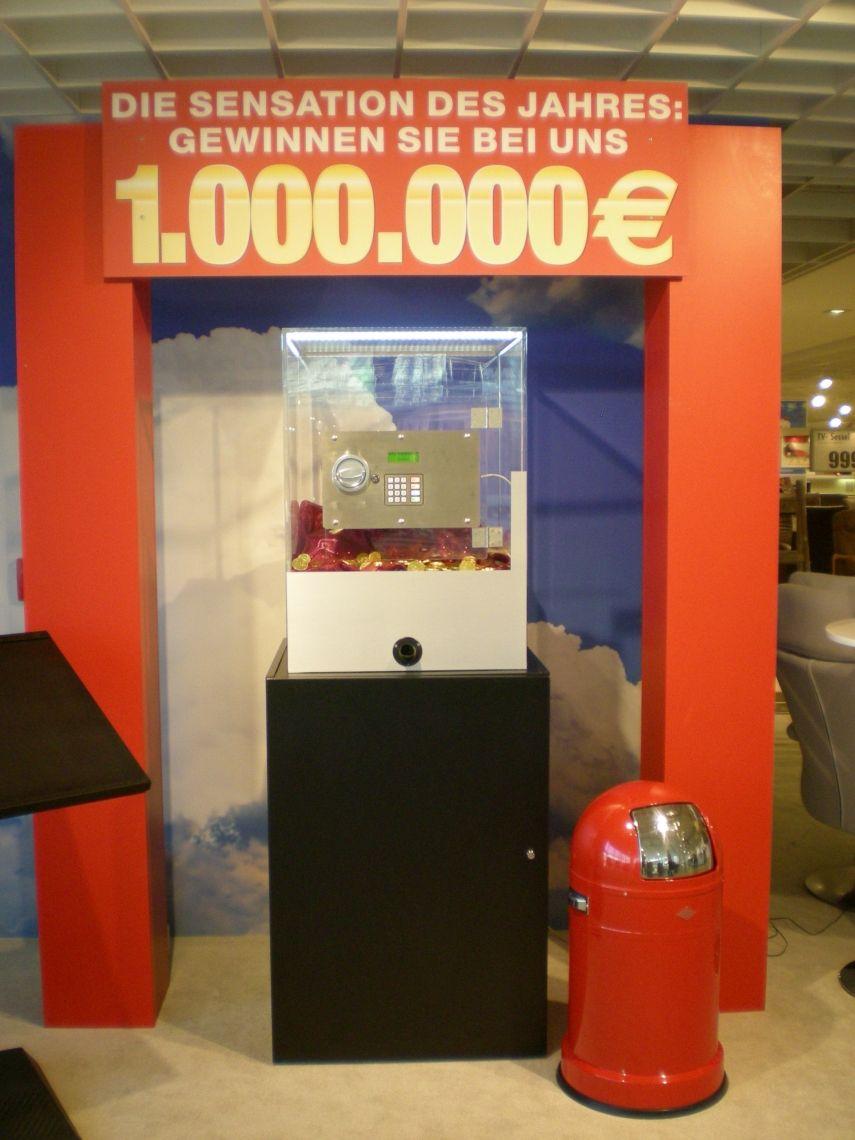 Gewinnspiel über 1.000.000 EUR Tresorspiel bei der Firma Ostermann über 1.000.000 EUR