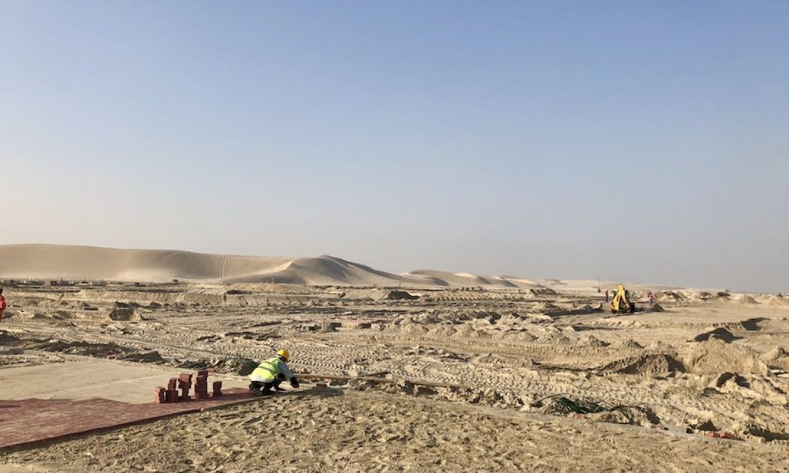 Baustelle - Wüste