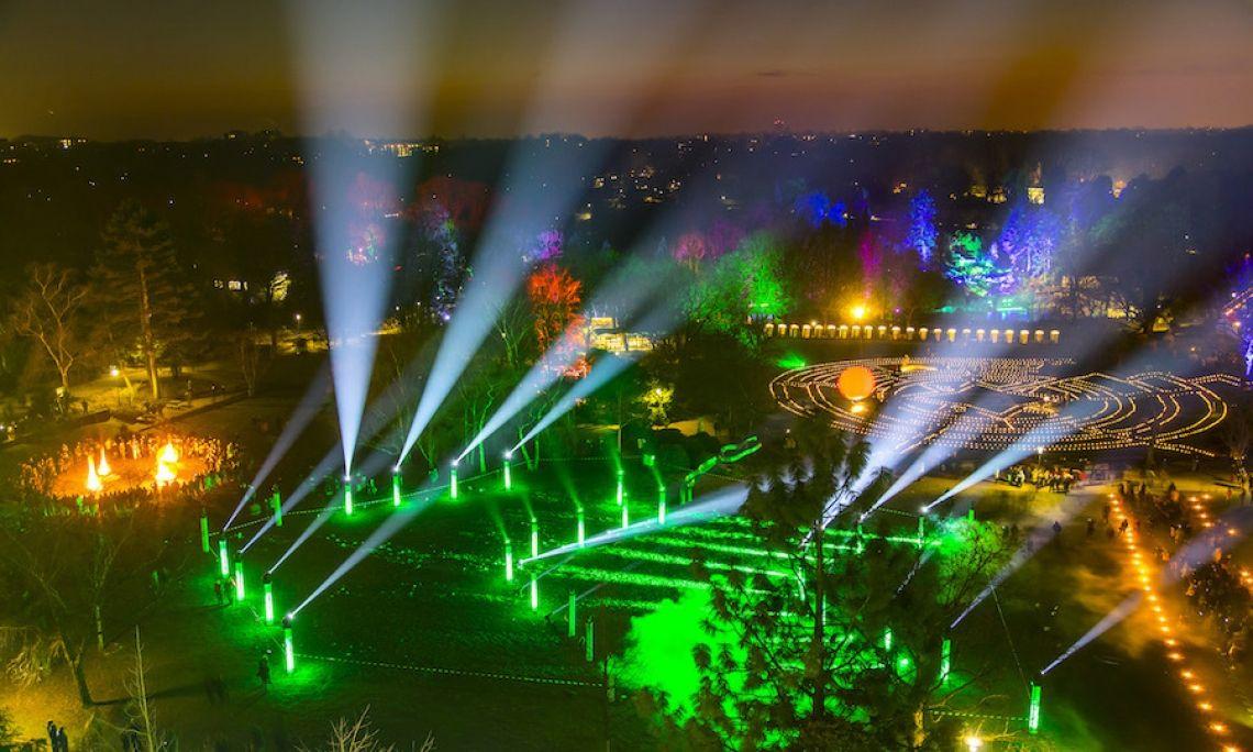 Illuminierung - Großveranstaltung - Parkfest