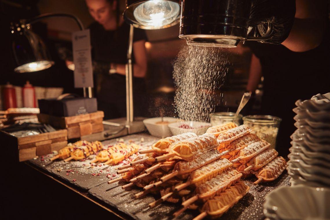 Waffles on a stick. - by Berlin Cuisine