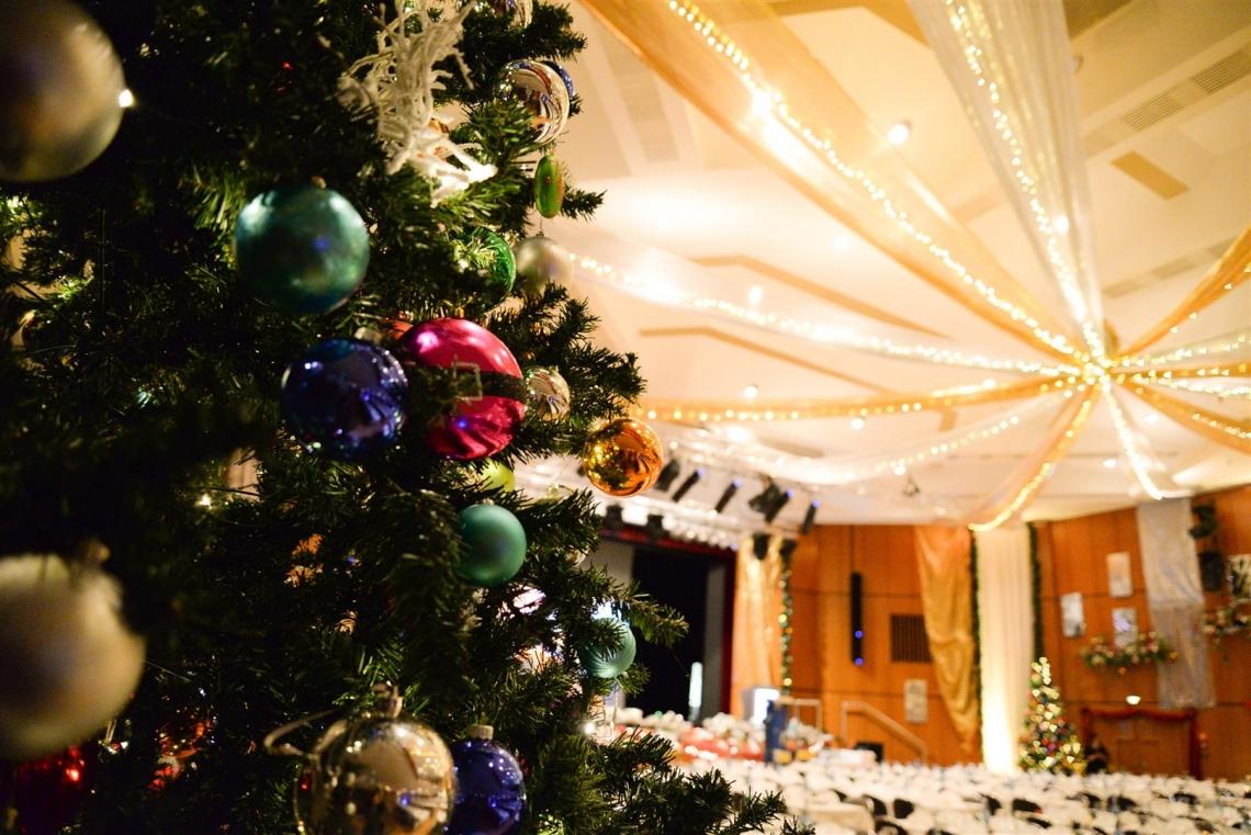 Jedes Jahr schmücken wir unseren Großen Saal und das dazugehörige Foyer festlich zur Weihnachtszeit. Feiern Sie bei uns - zu einem Festpreis - in diesem Ambiente!