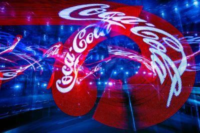 Logo-Jonglage Ihr Firmenlogo in der Leuchtjonglage