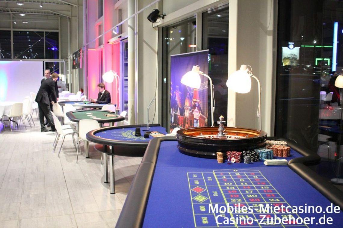 Casino Spieltische Roulette,Poker,Black Jack  Verschiedene Casino Spieltische auf einem Casino Event in Aachen. American Roulette, Poker und Black Jack Tische.