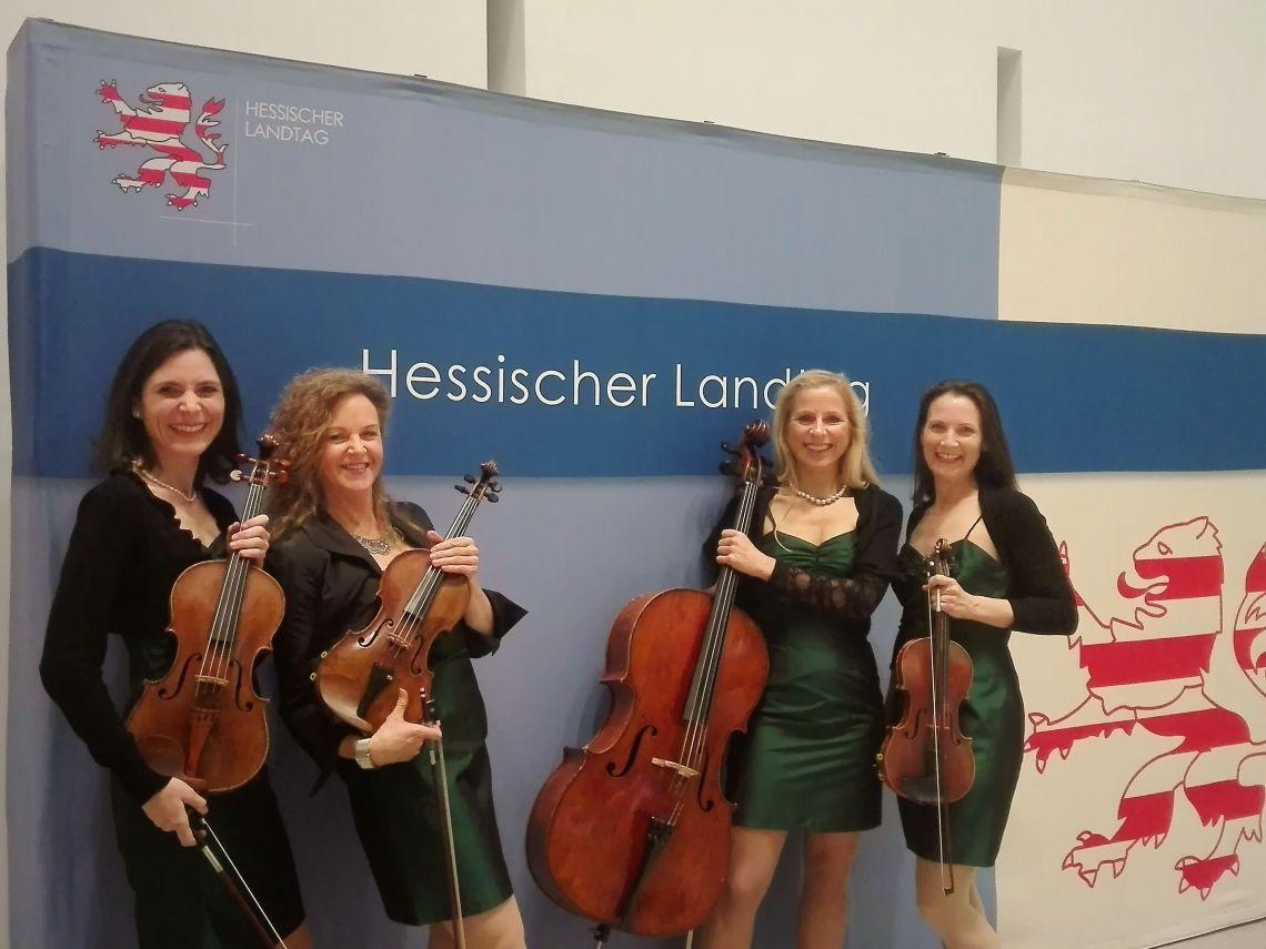 im hessischen Landtag Eventband Manon & Co live im  Hessischern Landtag